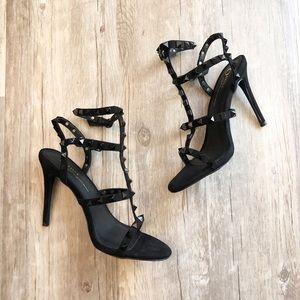 VICI black studded sandal heels